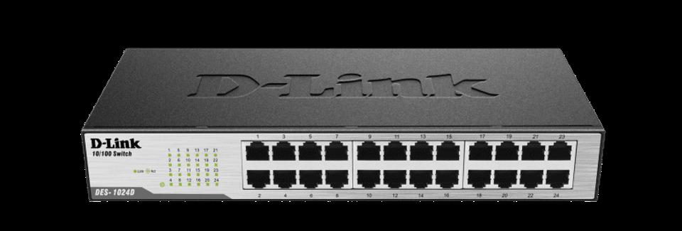 Switch Fast-Ethernet 24 portas DES-1024D D-link