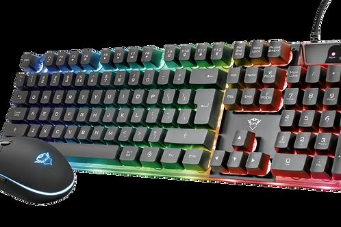 Teclado Mouse USB Sem Fio Gamer  Color  T 23289