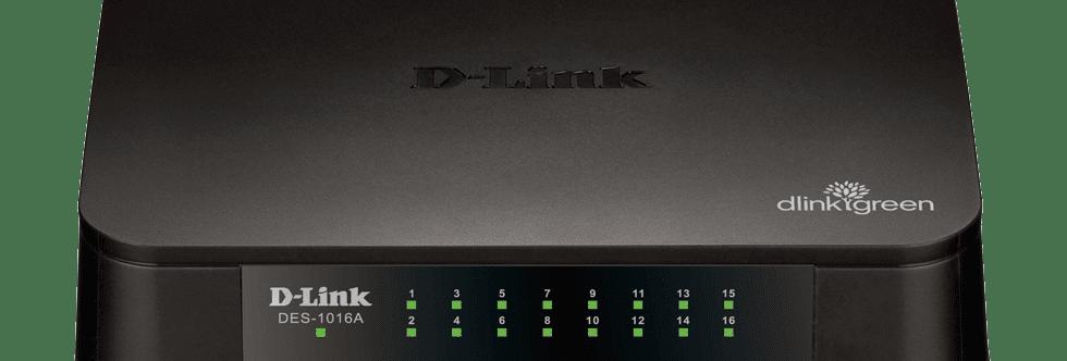 Switch Fast-Ethernet 16 portas DES-1016A D-Link