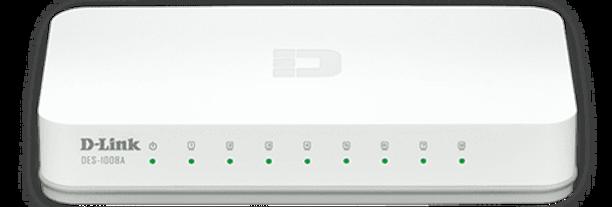 Switch Fast-Ethernet 8 portas DES-1008C D-Link