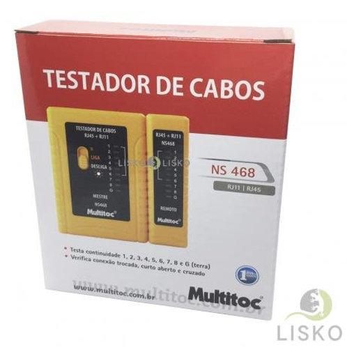 testador de CaboRJ45/RJ11 Multitoc NS 468