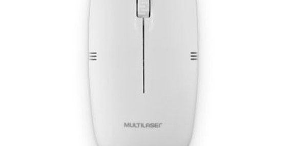 Mouse Sem Fio Lite 2.4GHZ 1200 DPI Usb Branco - Multilaser