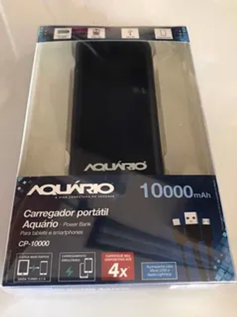 Carregador Portatil Aquario 10000 Ma Power Bank