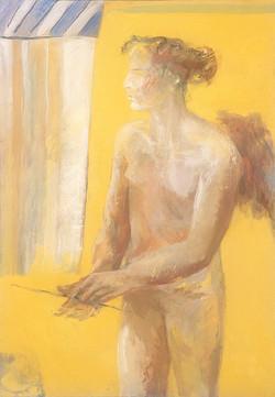 Ange sur fond jaune