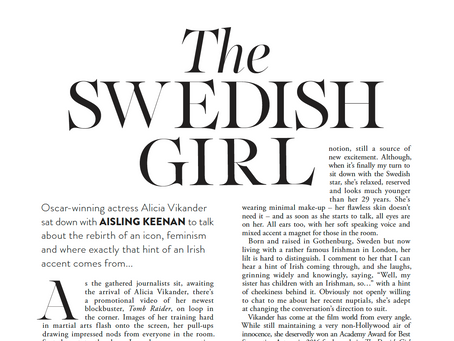 The Swedish Girl: My interview with Alicia Vikander