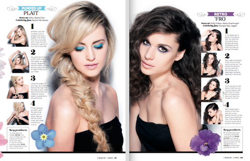U Magazine beauty shoot 2014