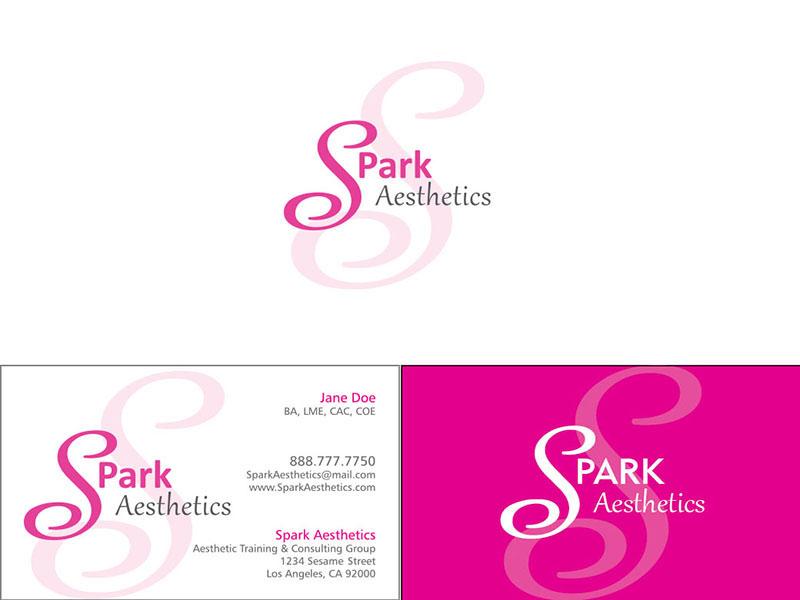 SPark Aesthetics Logo & Biz Card