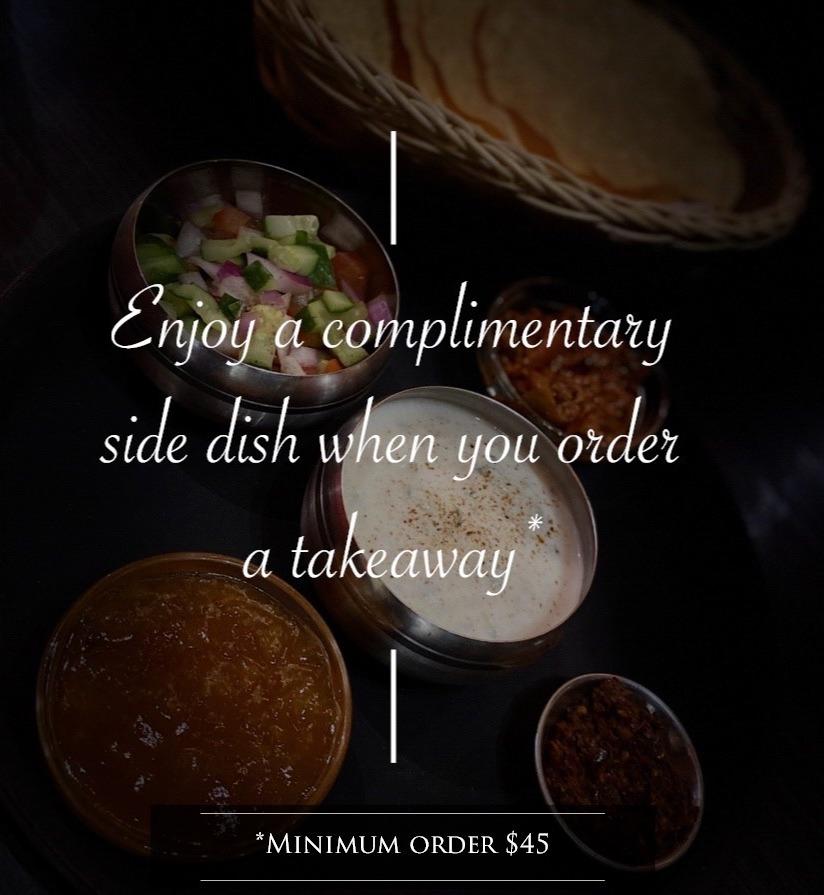 Takeaway Side Dish Special