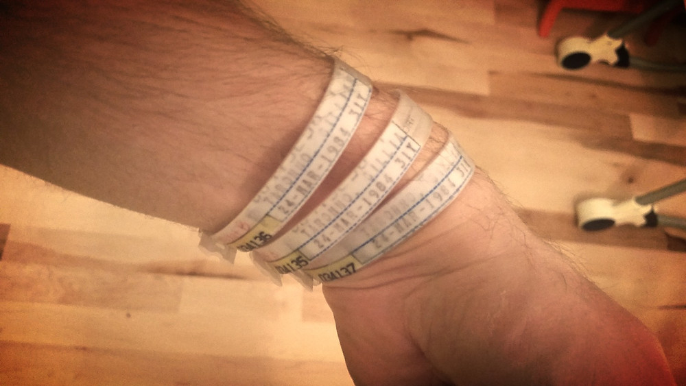 Rocking my new bracelets.