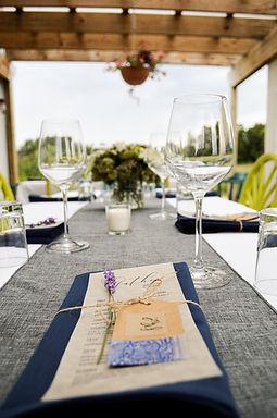 Wine Dinner Place Settings