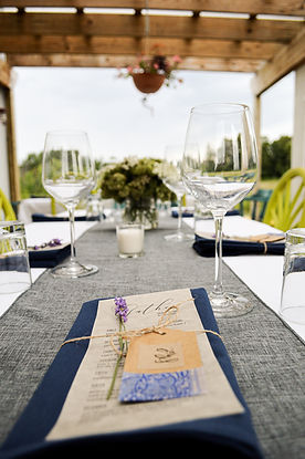 Wine Dinner Place Settings