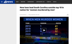 ABC4: New laws lead South Carolina outside top 10 in nation for 'women murdered by men'