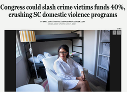 Congress could slash crime victims funds 40%, crushing SC domestic violence programs