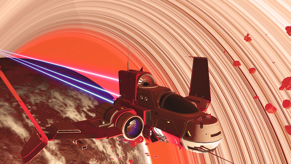 A No Mans Sky fighter space ship.