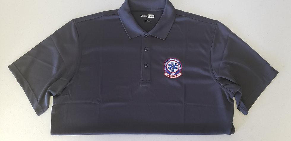 Gray HCC EMT Student Polo Shirt