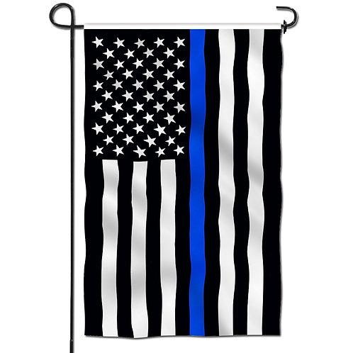 Double Sided Garden Flag, Thin Blue Line USA  Garden Flags  18 X 12.5 Inch