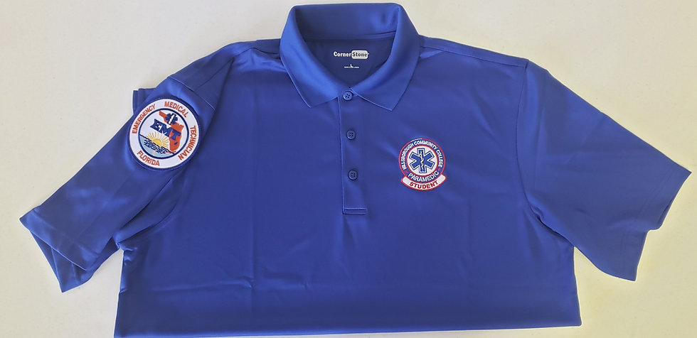 Blue HCC Paramedic Student Polo Shirt