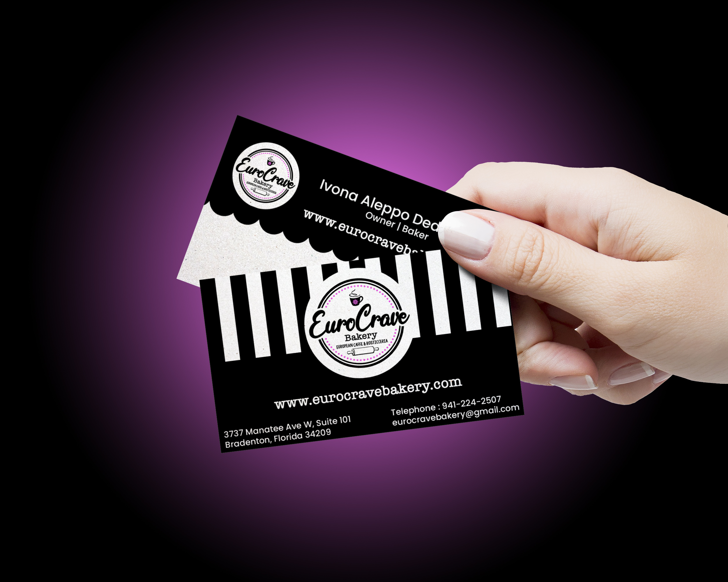Business Card Hand eurobakery