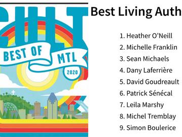 CultMTL: Top 10 Living Author