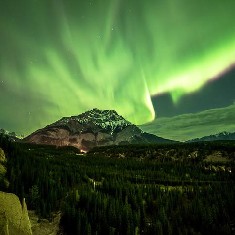 Cascade Mountain Northern lights