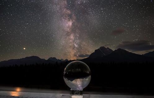 crystal ball milky way
