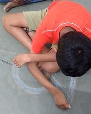 Vibhu floor writing.jpeg