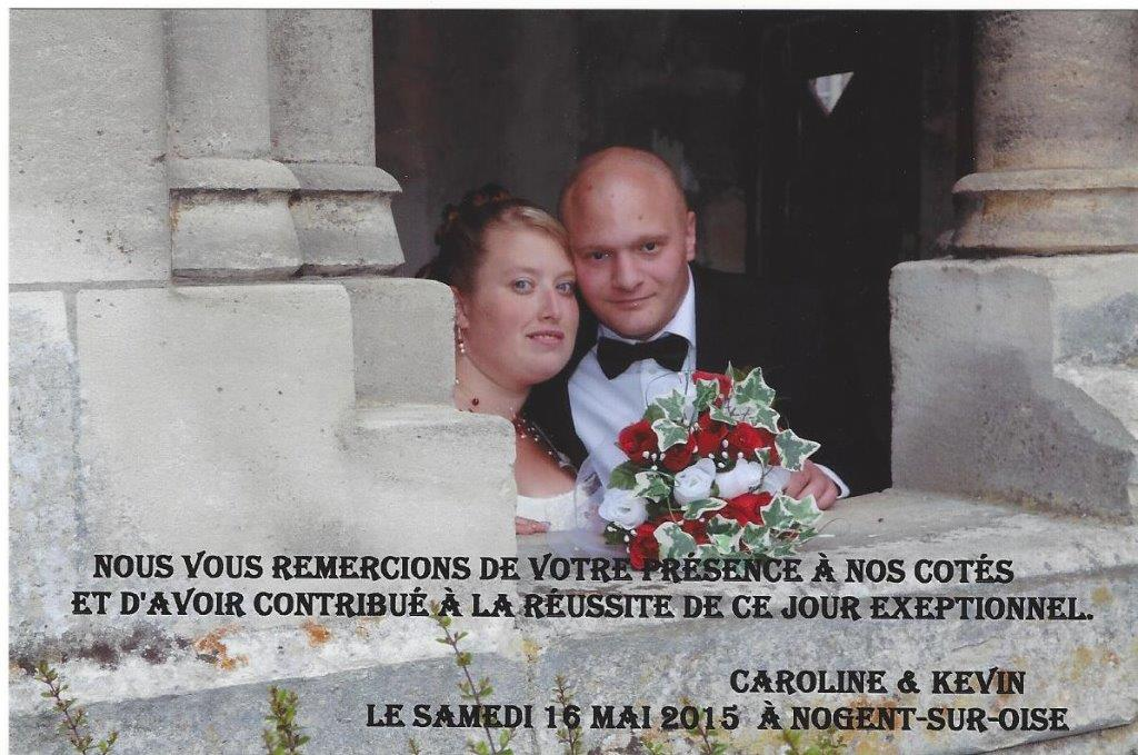 REMERCIEMENT MARIAGE PETIT