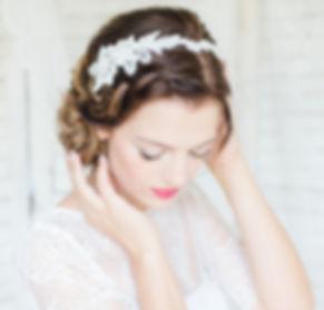 Braut Haarschmuck aus Spitze Tiara,Diadem,Haarreif und Haarkamm