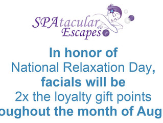 Extra Points with Facials this month...