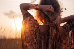 Goddess sunset