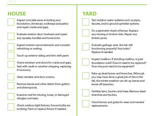Rental Property - Spring Clean Up Outdoor Checklist