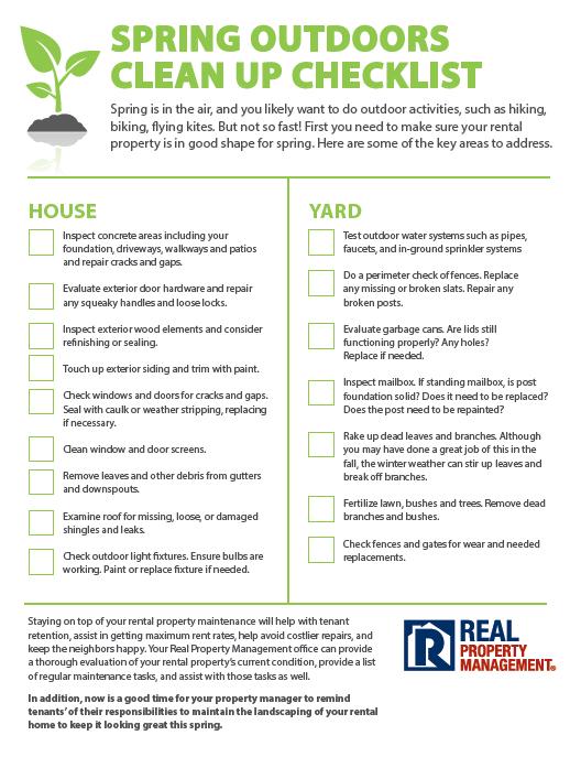 Rental  Property Spring Checklist