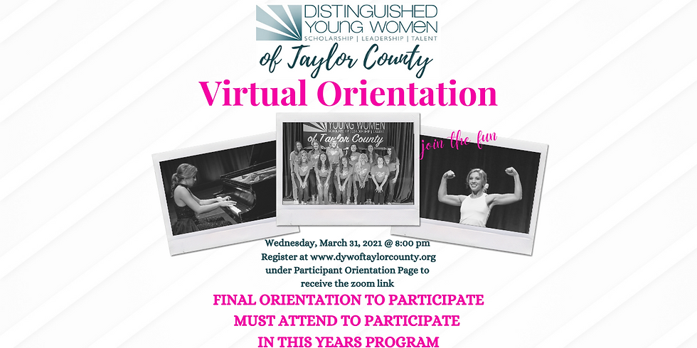 Distinguished Young Women of Taylor County Class of 2022