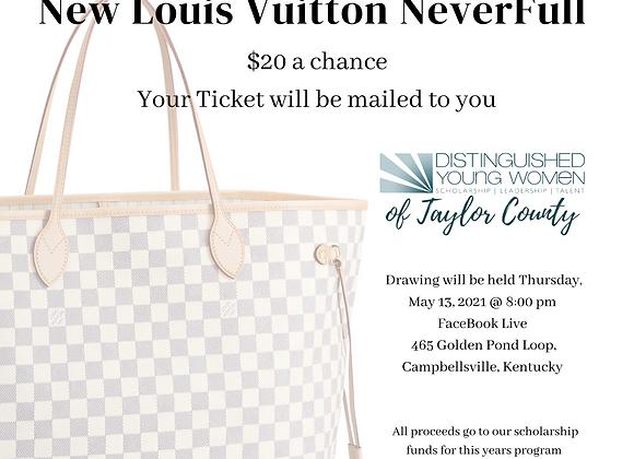 Authentic Louis Vuitton Purse Raffle Ticket