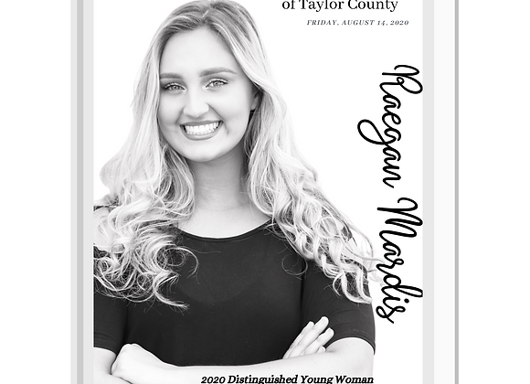 2021 Distinguished Young Women of Taylor County Program Book