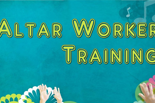 Altar Worker Training Webinar Recording