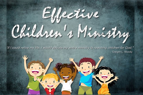 Effective Children's Ministry Webinar Recording