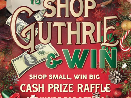 Do your Christmas shopping in Guthrie and win big!