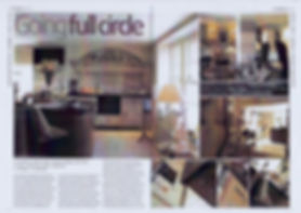 Double page spread article in magazine Going Full Circle Julie Kent Interiors. Interior Design Services Bath London Wiltshire