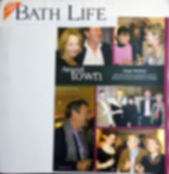 Article in Bath Life magazine with photos of celebrities - Julie Kent Interiors. Interior Design Services Bath London Wiltshire