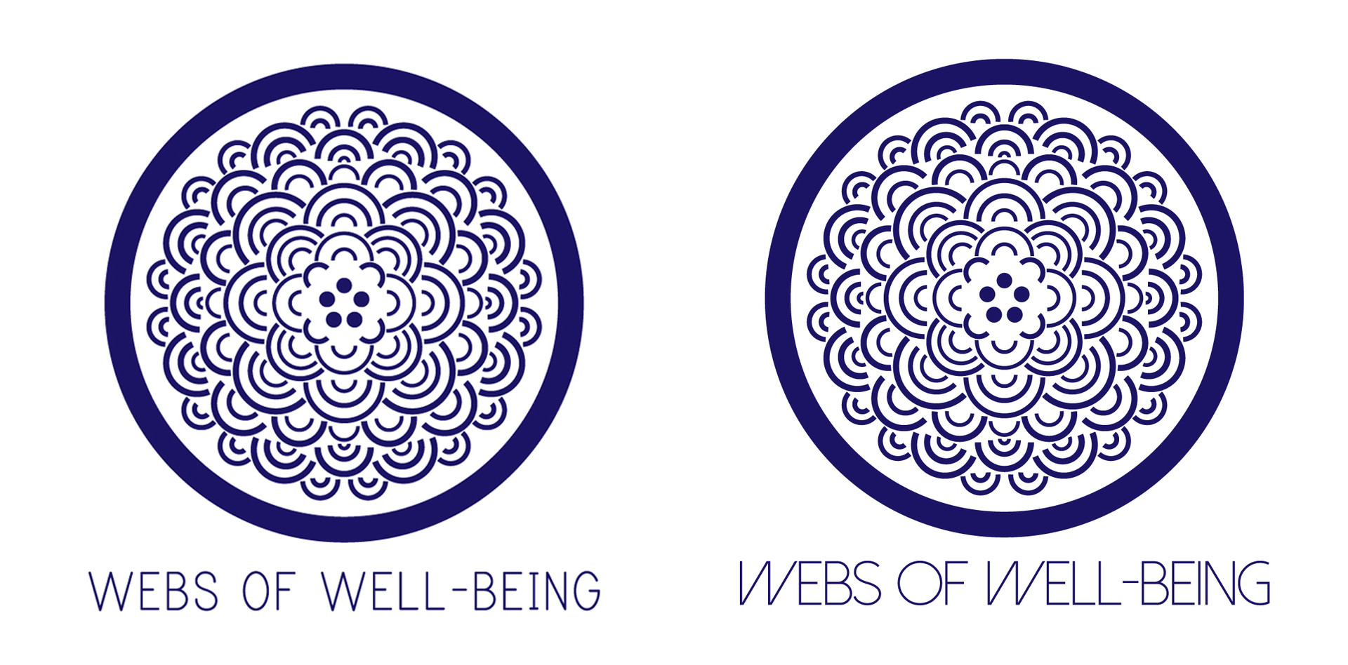 webs of well-being logo design (3/3)