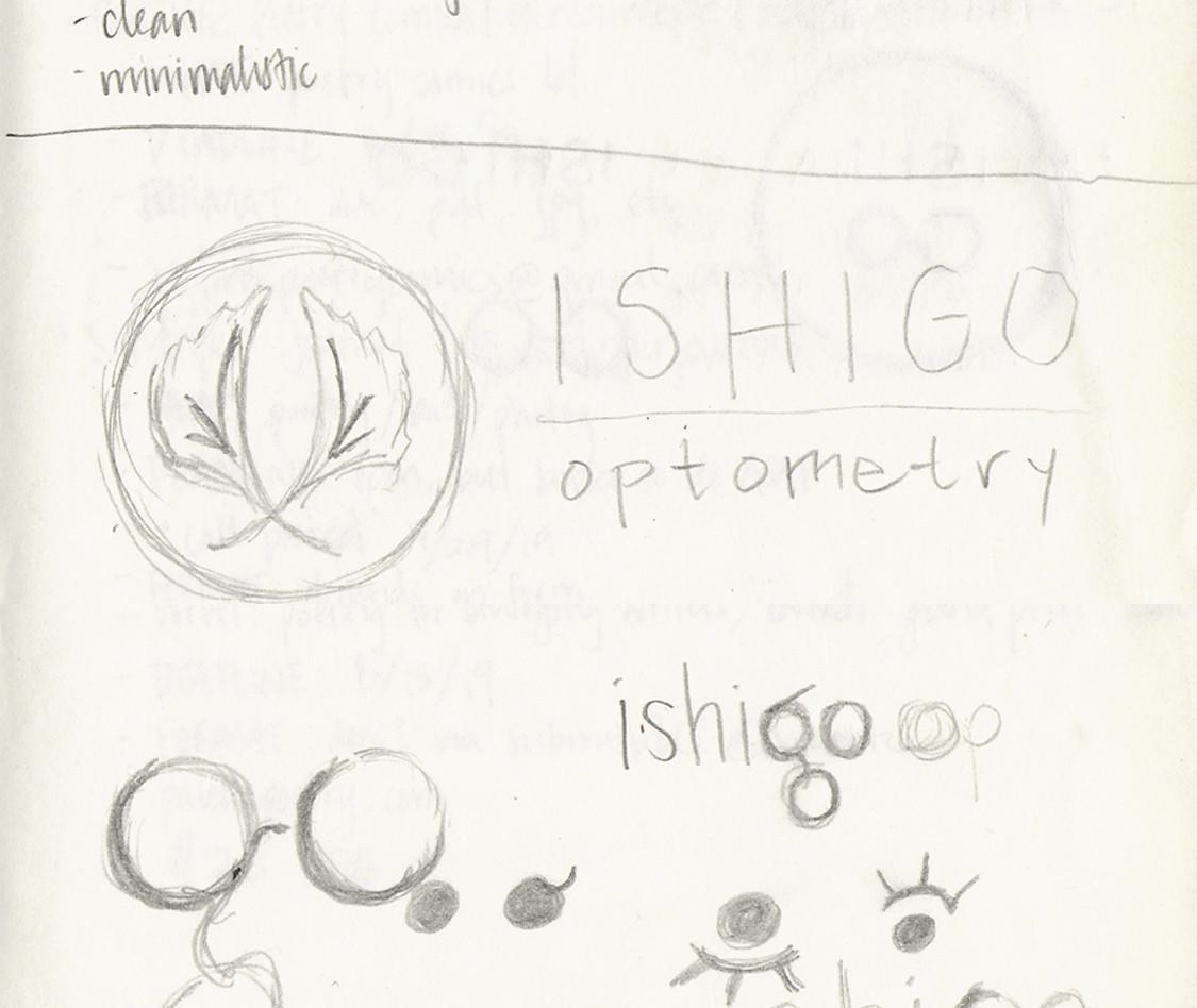 ishigo optometry logo design (2/3)
