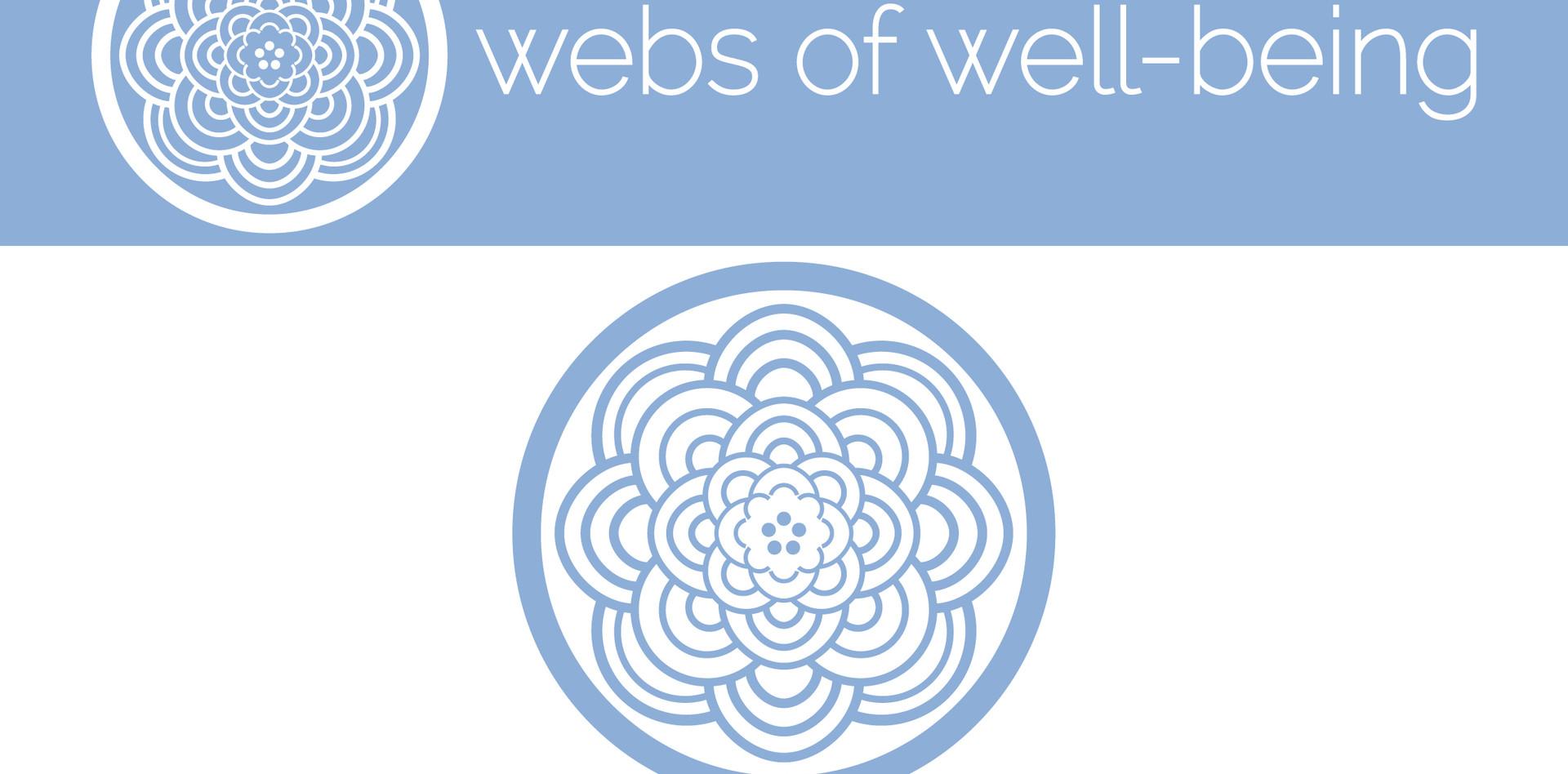 webs of well-being logo design (1/3)