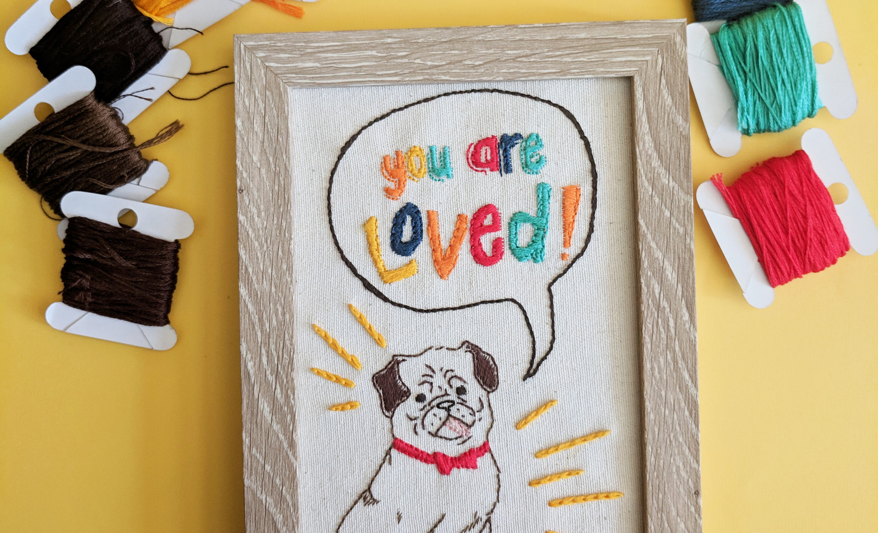 you are loved tinypug