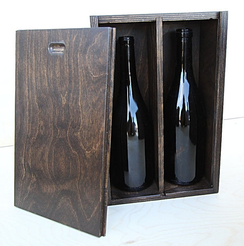 Double Bottle Wine Gift Box with Personalization