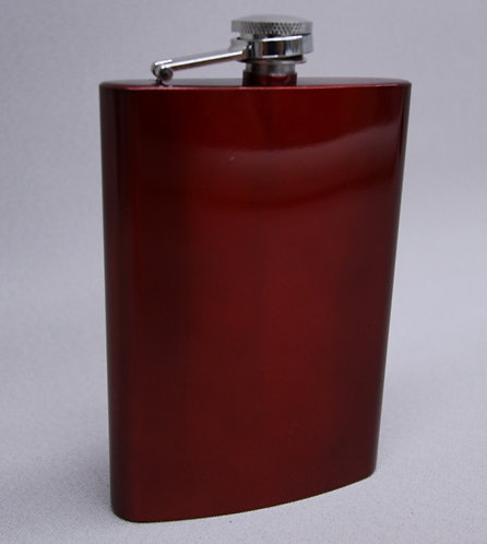 8 oz Red Anodized Flask