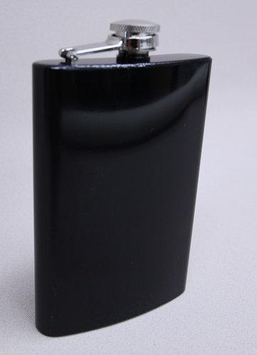 8 oz Black Anodized Flask