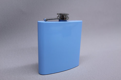 6 oz Baby Blue Flask