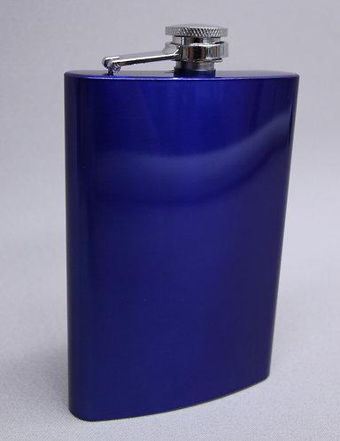 8 oz Blue Anodized Flask