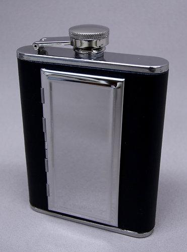 Black Flask with Cigarette Holder